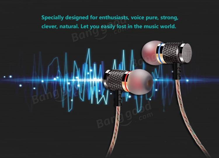 KZ ED2 Gold Plated In Ear Earphone Heavy Bass Stereo With Mic For iPhone Samsung Xiaomi Huawei HTC