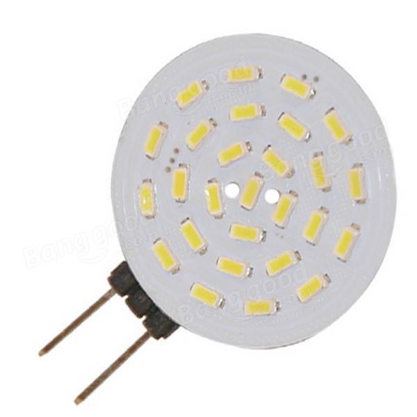 ピュアホワイト160Lm 27SMD LED 3014 G4 1.5W車のヨットの家の装飾