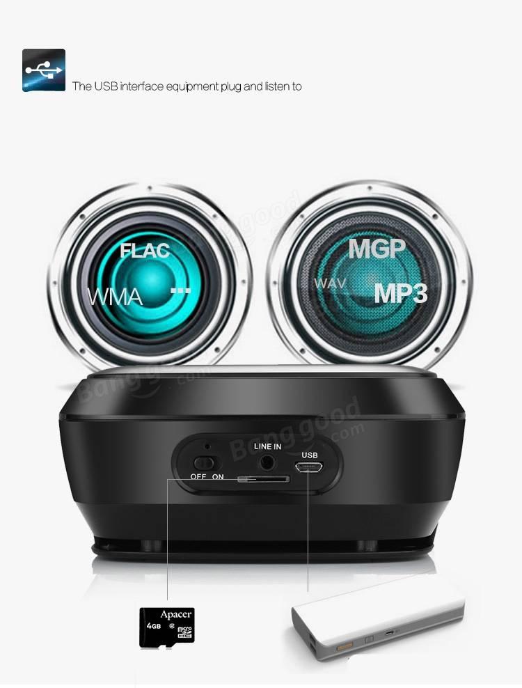 XIMU AJ-81 Super Bass Subwoofer Touch Control Wireless Bluetooth Speaker For Xiaomi Samsung iPhone