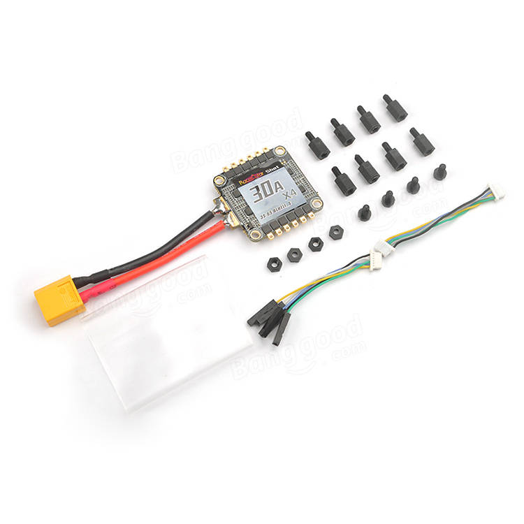 Racerstar Shot30A ESC 30A 30amp 3-6S 4 in 1 BLHeli_S BB2 Dshot600 Integrated Current Voltage Sensor
