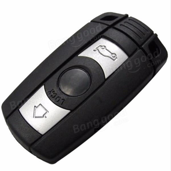 Remote Smart Key Case for BMW 5 Series 3 Buttons Key Shell With Sticker