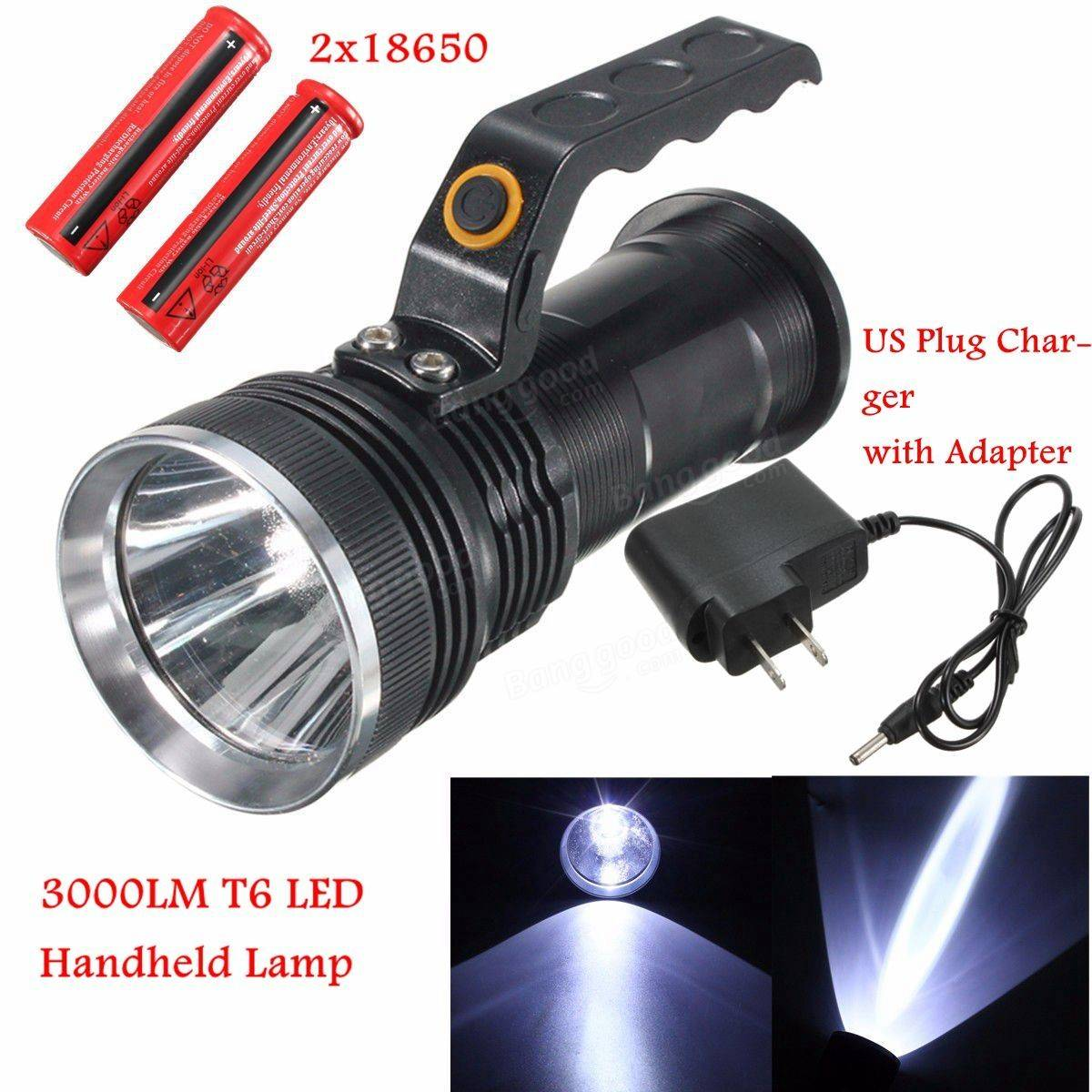 Universal 3000LM Rechargeable Police Tactical Brightness LED Flashlight Torch Handheld Lamp