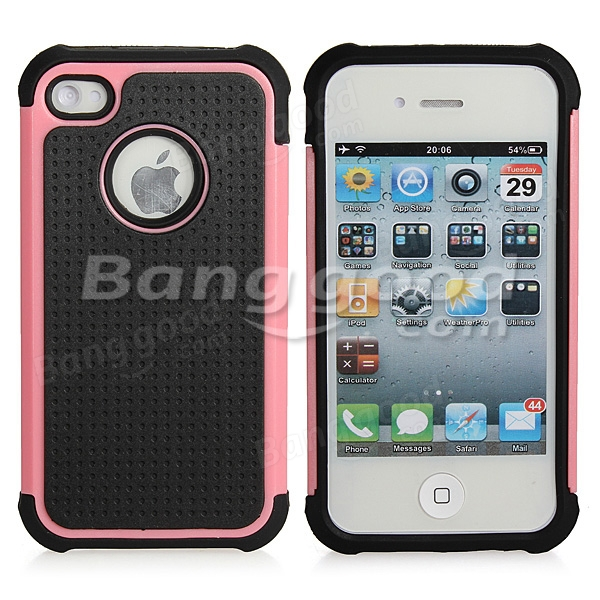 Hard Defender Heavy Duty Hybrid TPU Gel Case Cover For iPhone 4 4S