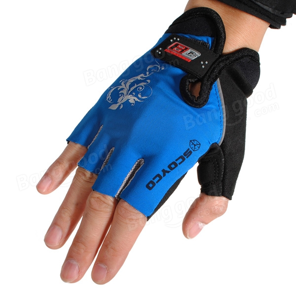 Gloves With Fingertips Out: SCOYCO Bike Cycling Half-finger Gloves Outdooors Glove