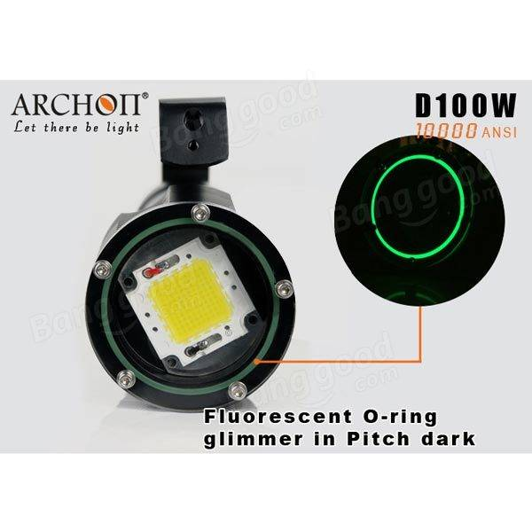 ARCHON D100W 100W LED 10000LM Professional Diving LED Flashlight