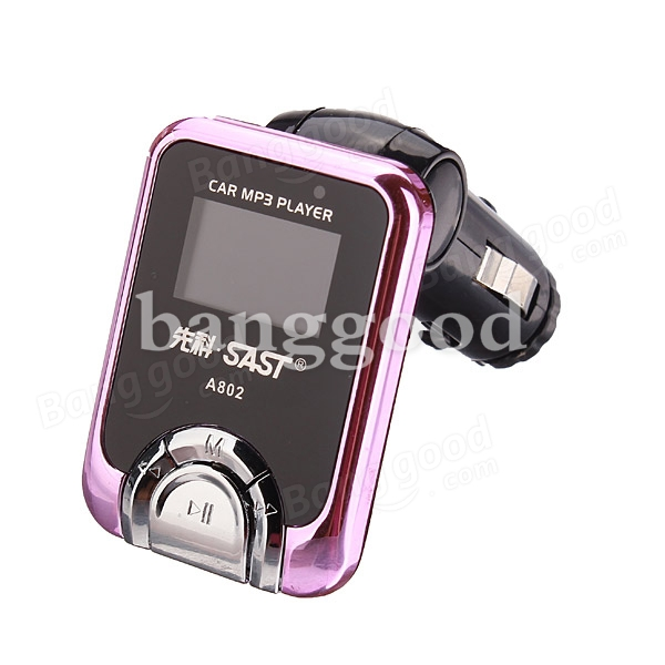 Car FM Transmitter MP3 Media Player A802 2GB with Remote Controller