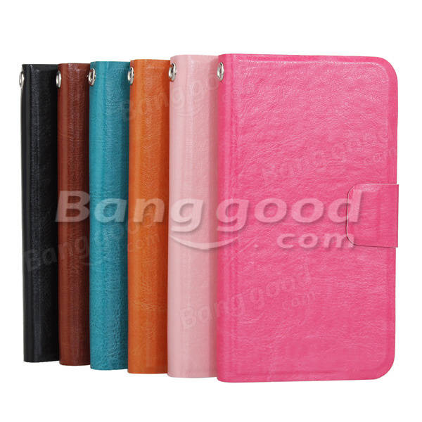 Synthetic Leather Card Wallet Case For Lenovo A760 Smart Phone