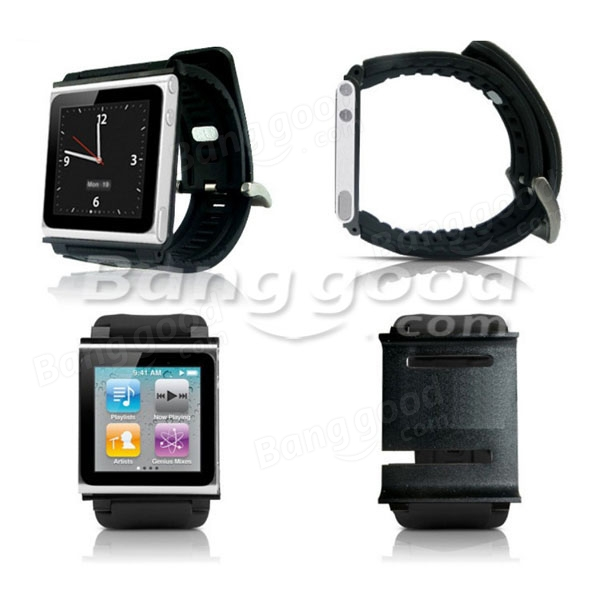 Sportive Protable Leather Watch Band For iPod Nano 6