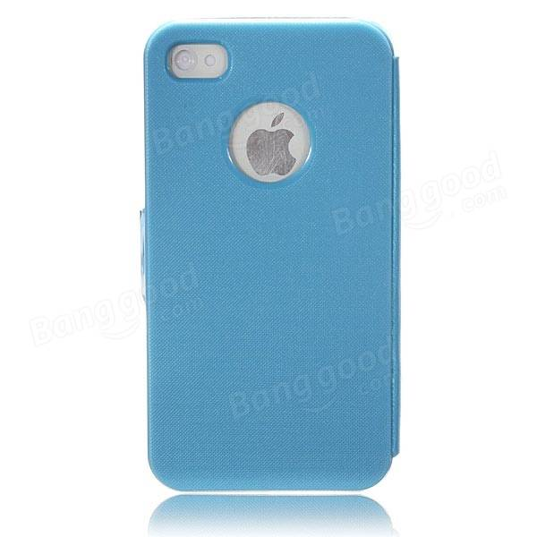 Magnetic PU Leather Folio Flip Pouch Hard Case Cover For iPhone 4