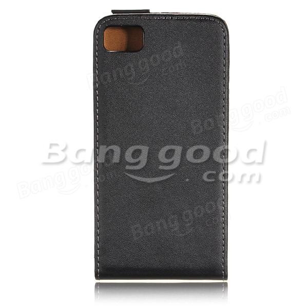 Vertical PU Leather Flip Magnetic Case For BlackBerry Z10