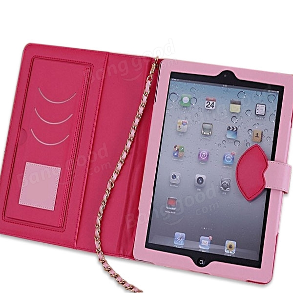 Monroe Lips Magnetic PU Leather Case Cover For iPad 2 3 4