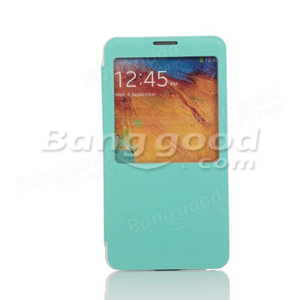 Bones Pattern View Window Leather Case For Samsung Note 3 N9000