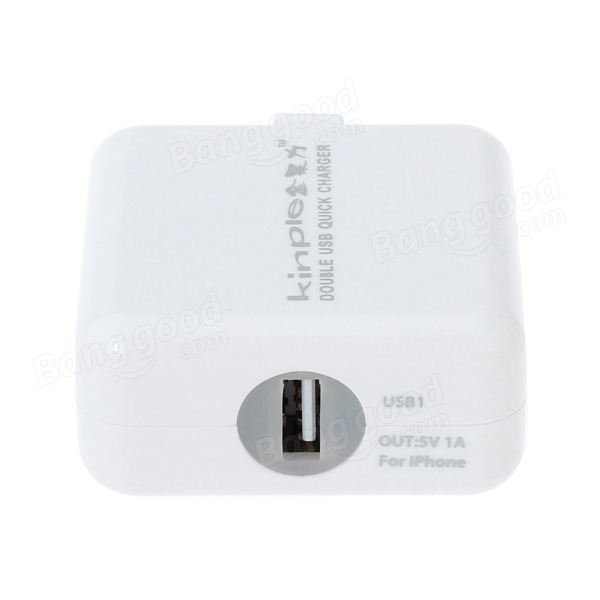 Universal 2 Port USB AC Adapter Charger With LED For Mobile Phone