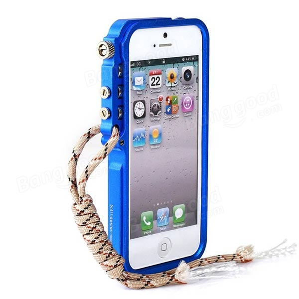 Arm Grain Pattern Aluminum Protective Case Cover For iPhone 5 5S