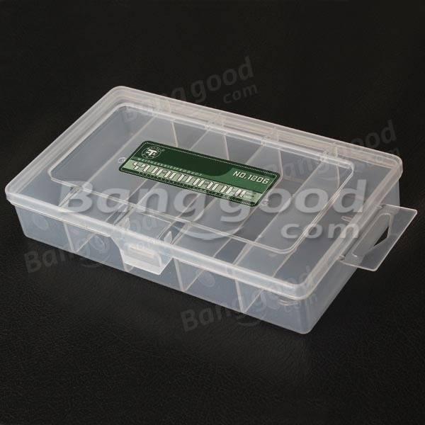5 Compartments Storage Plastic Repair Tool Box For Mobile Phone