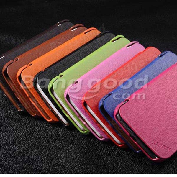Genuine Leather Protective Case For Samsung Galaxy Mega 5.8 I9150