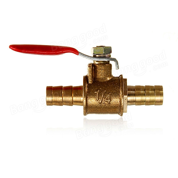 Inch brass barb ball valves for mm water tube