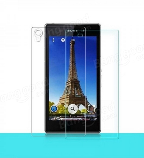 Tempered Glass Front+Clear Back Protectors for Sony Xperia Z1 L39H