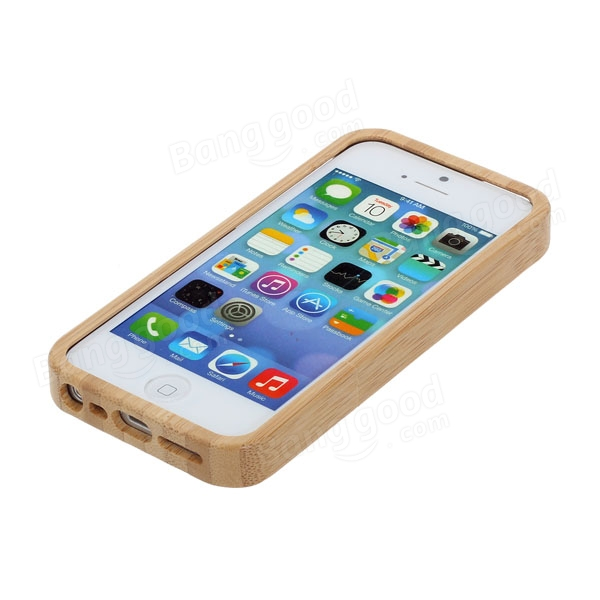 Scorpion Pattern Natural Bamboo Case Cover Skin For iPhone 5 5S