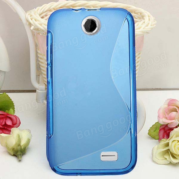 S Line Wave Slim TPU Silicone Back Case Cover For HTC Desire D310W
