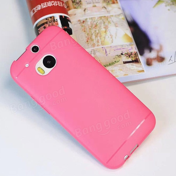 Colorful Pure Color TPU Back Case For HTC ONE M8