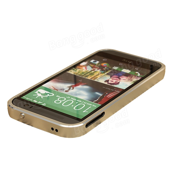 Ultra-thin Metal Bumper Case Back Cover for HTC One M8
