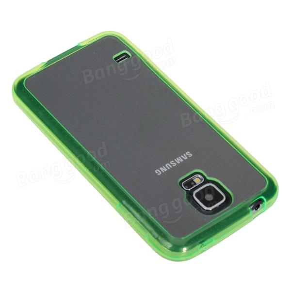 サムスンS5 i9600スマートフォンのための2つの1つの光沢のある保護ケース