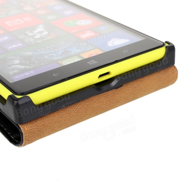 Flip Leather Protective Case Cover for Nokia Lumia 1520 Smartphone