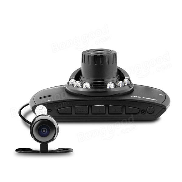 Dome G30B Car DVR Allwinner A20 Chipset 2.7 Inch LCD HD 1080P 140 Degree Wide Angle Dual Lens