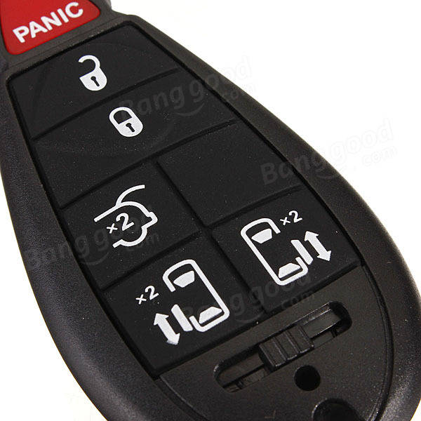 6 Button Fob Keyless Remote Transmitter For Chrysler Dodge
