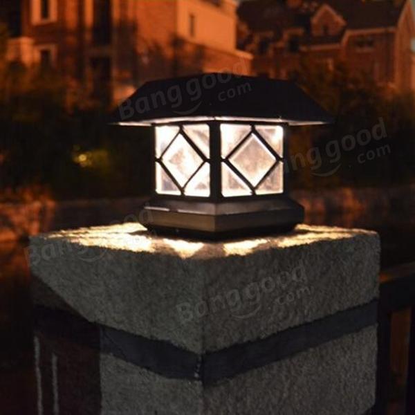 Solar Power Post Cap Fence Light LED Outdoor Garden Landscape Lamp Sale Ban