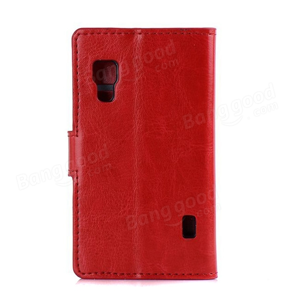 Crazy Horse Pattern Wallet Leather Case For LG L5 II E460