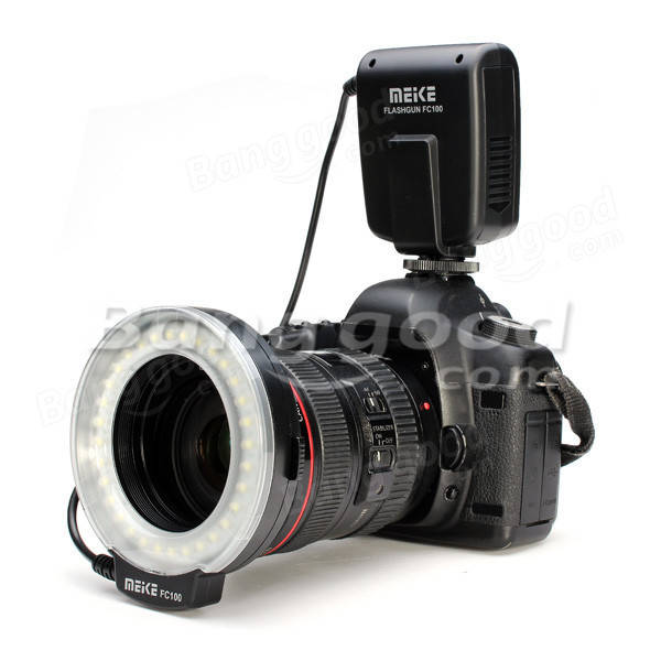 Meike FC-100 Macro Ring Flash Light For Nikon Canon Fuji DSLR Camera