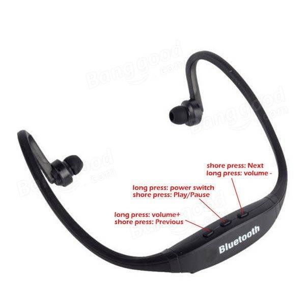 wireless bluetooth sports headphones headset mic earphones for iphone us. Black Bedroom Furniture Sets. Home Design Ideas