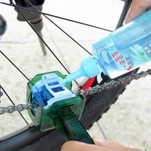Motorcycle Bike Chain Machine Scrubber Brushes Wash Cleaner Tool Kits