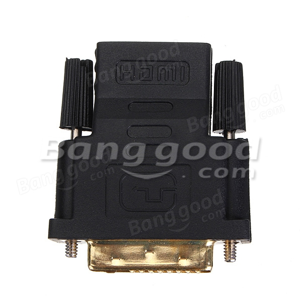 Gold Plate DVI Male To HDMI Female M-F Adapter Converter For HDTV