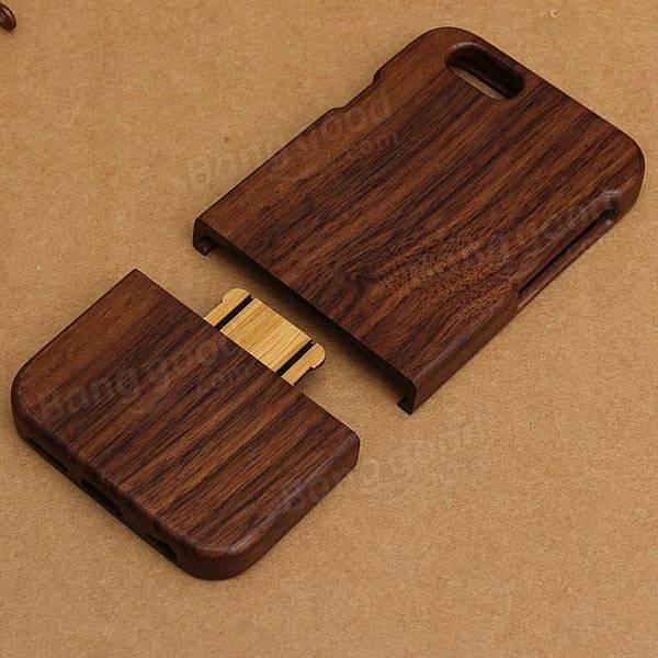 本物の天然木の木製のハードケースカバーiPhone 6 6s 4用.7インチ