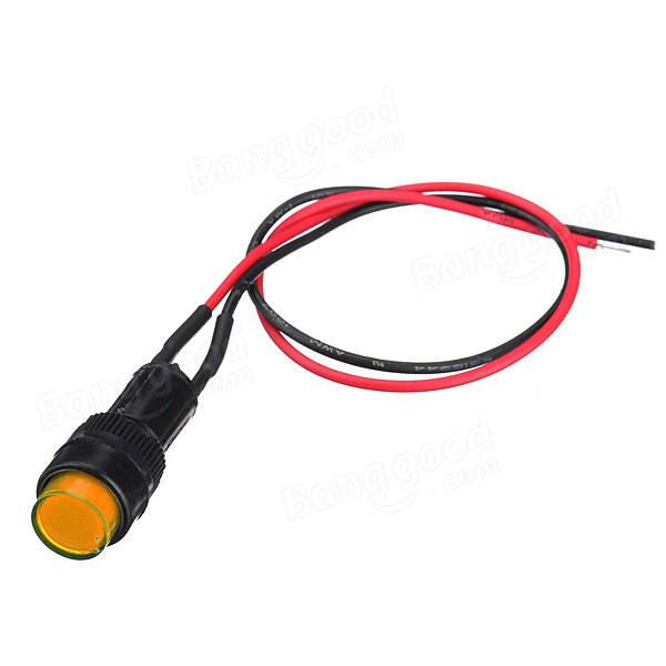 5X10mm Universal LED Indicator Dash Panel Warning Light Lamp