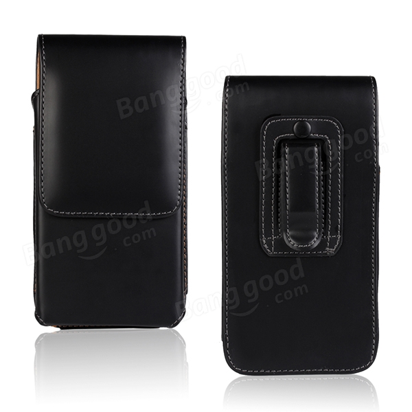 Waist Hanged Open Up And Down Leather Case For Huawei Honor 3X
