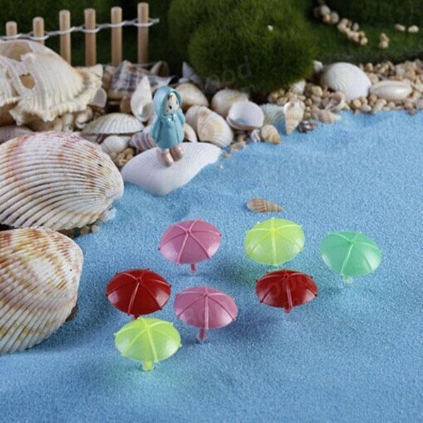 Mini beach umbrella micro landscape decorations garden diy