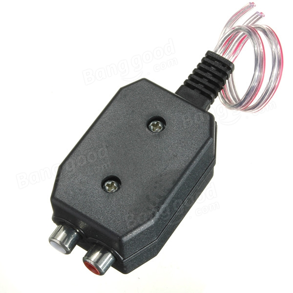 Car Audio High Level Speaker to Low Level RCA Converter 2 Channel