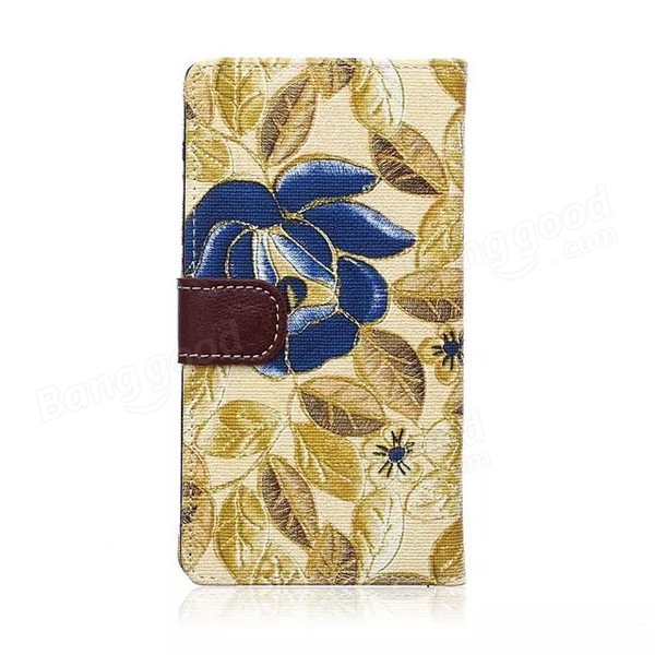 Flip Flower Pattern Cloth Wallet Stand Case Cover For LG G4