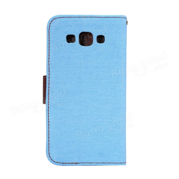 Jeans Pattern TPU Wallet Card-slot Design Case Cover For Samsung A5