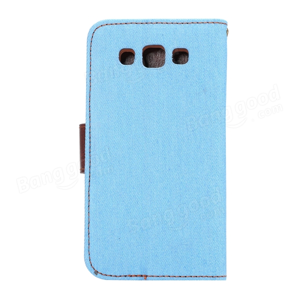 Jeans Pattern Leather Wallet Design Flip-open Case For Samsung E5