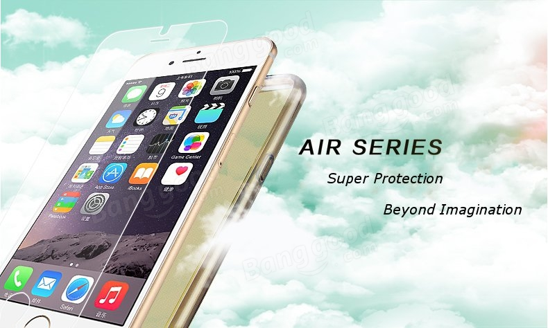 Original KLD Air Series Clear TPU Protection Phone Case For iPhone 6 Plus With Toughened M