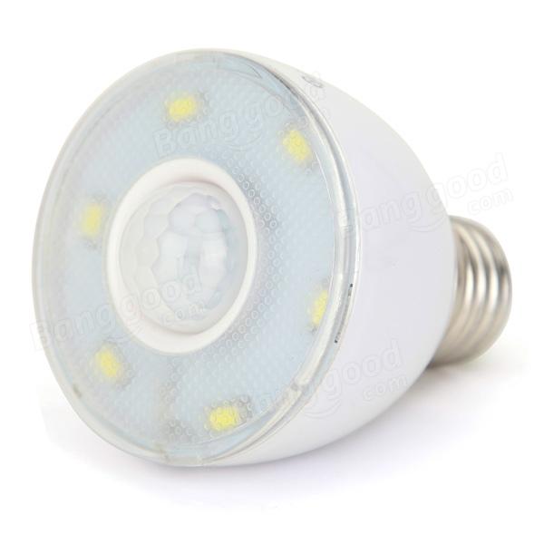 white 350lm 6 smd 5730 microwave radar body sensor led light bulb 220v. Black Bedroom Furniture Sets. Home Design Ideas