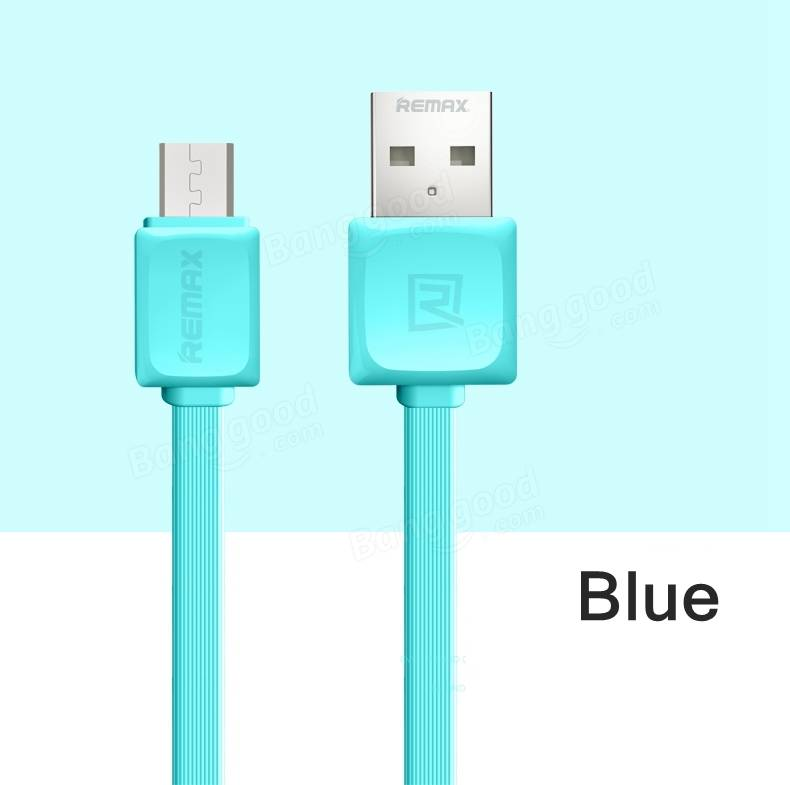 REMAX 2.1A FAST Flat Micro USB Charging Data Cable For Cellphone