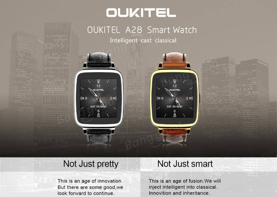 OUKITEL A28 1.54-inch MTK2502 Bluetooth Smart Watch Phone