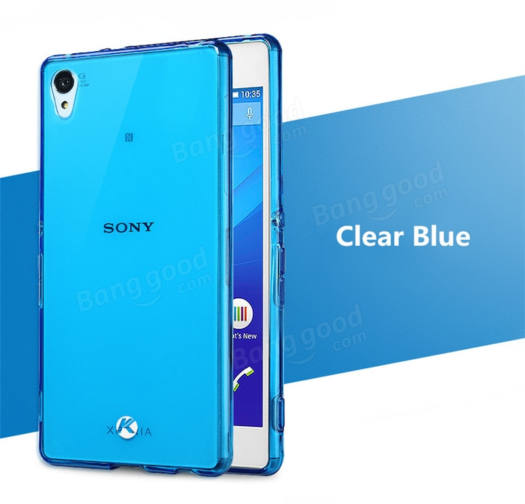 KALAIDENG Clear TPU Case With Glass Protector For Sony Xperia Z4