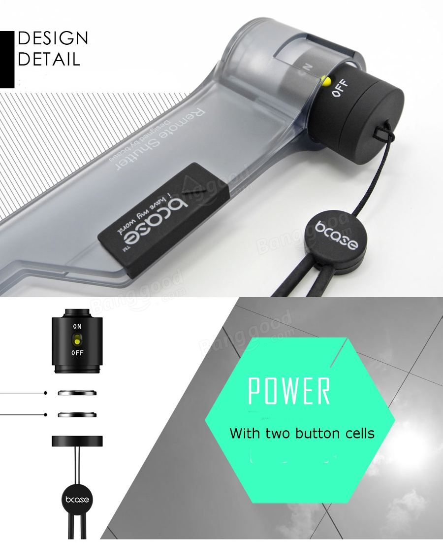Bcase Wireless Bluetooth Photo-taking Remote Shutter For Mobile Phone